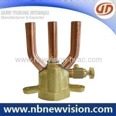Brass Distributor & Copper Header Connector for Air Conditioner