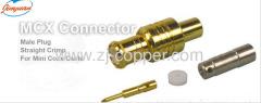 MCX female RF straight crimp for RG174 RG188 RG316 cable