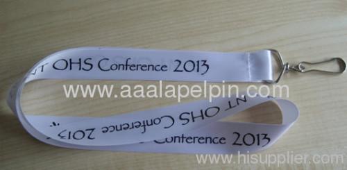 white ribbon lanyard for promotion