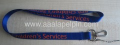 Popular blue Nylon lanyards