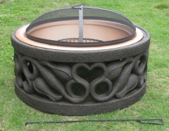 fireplace stove grill heater patio charcoal