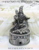 Metal incense cone burner