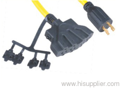 American 3 conductor locking extension cable