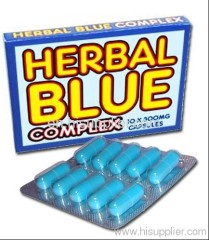 hot selling hrbal blue complex sex capsule