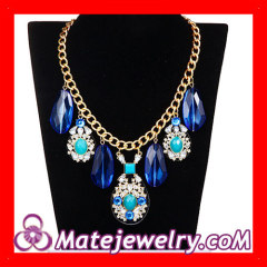 Costume Jewelry Big Stone Necklace