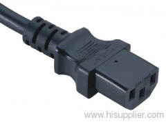 IEC C13 connector power cord