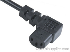 IEC C13 angled connector with cord