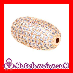Pave Crystal Charm Beads For Bracelets