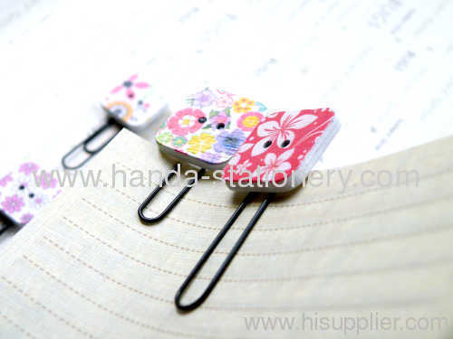 FLOWER BOOKMARK METAL BOOKMARK CLIPS