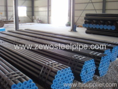 Carbon seamless steel pipe with paint balck and plastic cap
