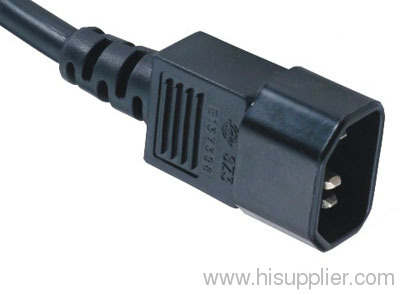 Power cord with IEC C14