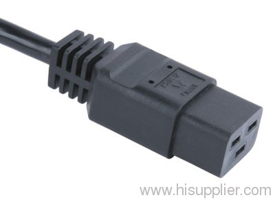 IEC C19 connector with cord