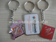 fashion key ring bag hanger embossed enamel keychains