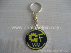 fashion embossed enamel keychains