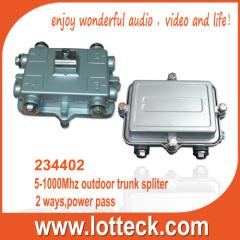 5-1000MHz 2-way outdoor trunk splitter