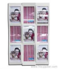 Plastic Injection Photo Frame, 4X6-9opening,meansures 52X34X4CM