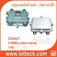 5-1000MHz 1-way outdoor trunk tap