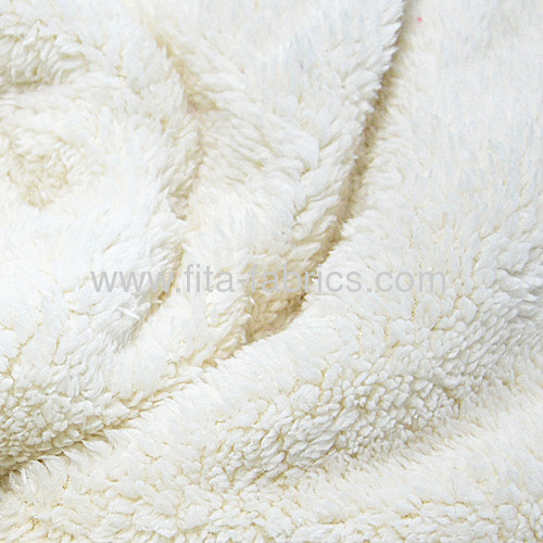 100% Polyester fake lamb fur fabric/berber fleece or polyester sherpa