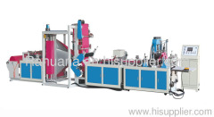 Non-woven three-dimensional bag making machine