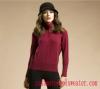 Lady Half Cardigan Turtleneck Cashmere Sweater