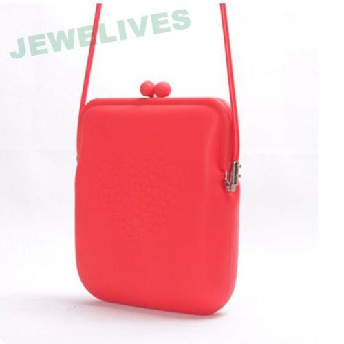 Silicone rubber purse with lace design
