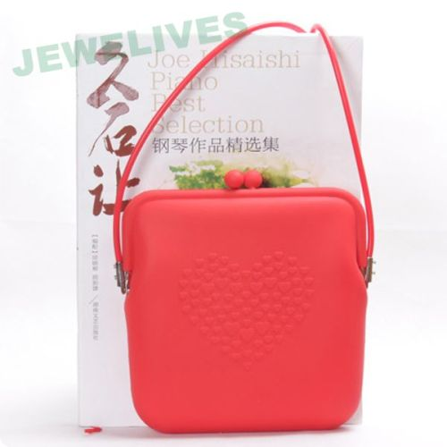 Silicone lady purse in Pop