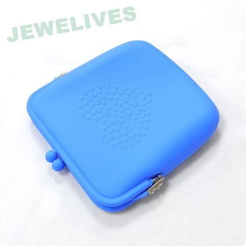 Silicone hand bag with embossed design