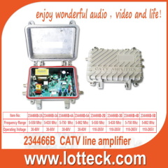 Weatherproof Line CATV Amplifier