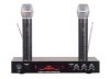 VHF dual channel echo rechargeable wireless microphone
