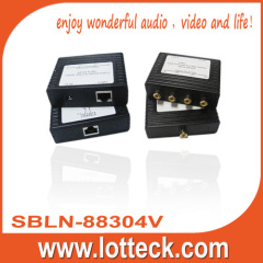 150m/480P 1×4 Video extender over lan cable cat5/5e/6