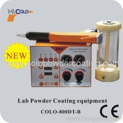 Portable with GLASS hopper Manual Powder Coating Machine