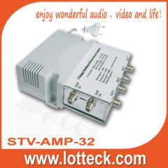 4 way multiband CATV amplifier