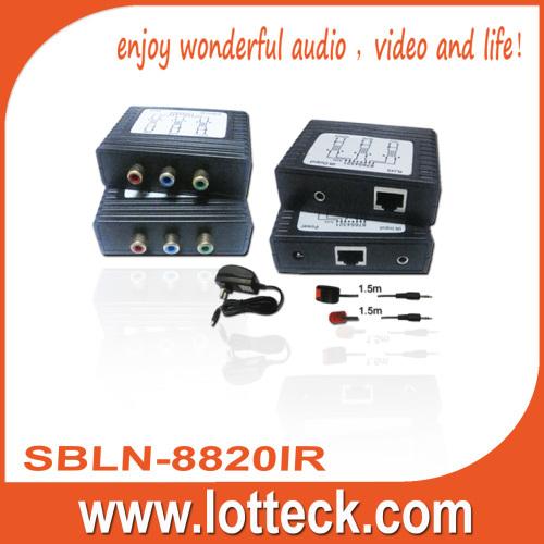 100m/1080i Y/Pb/Pr Video +IR extender over lan cable Cat5/5e