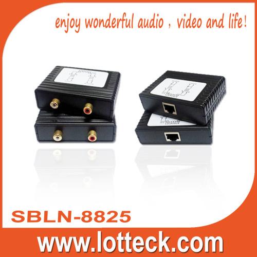 300m L/R Audio extender over lan cable Cat5/5e/6