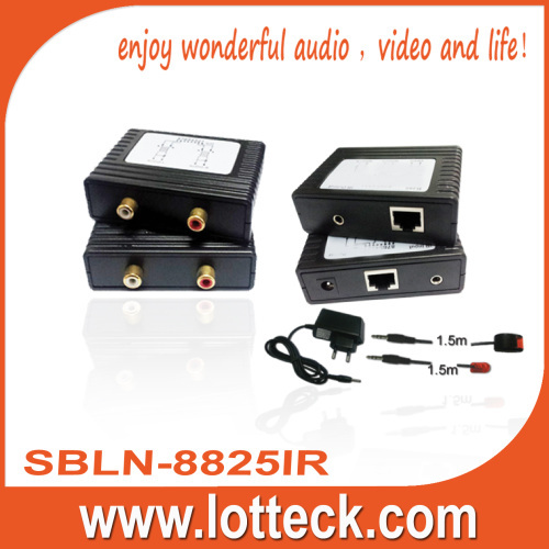 300m L/R Audio +IR extender over lan cable Cat5/5e/6