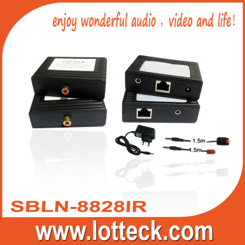 300m Digital Audio+IR extender over lan cable Cat5/5e/6