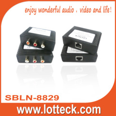 300m Digital Audio+L/R extender over lan cable Cat5/5e/6