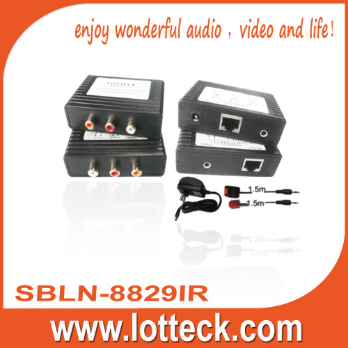 300m Digital Audio+L/R Audio+IR extender over lan cable Cat5