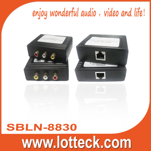 150m/480P Composite Video+L/R audio extender over lan cable