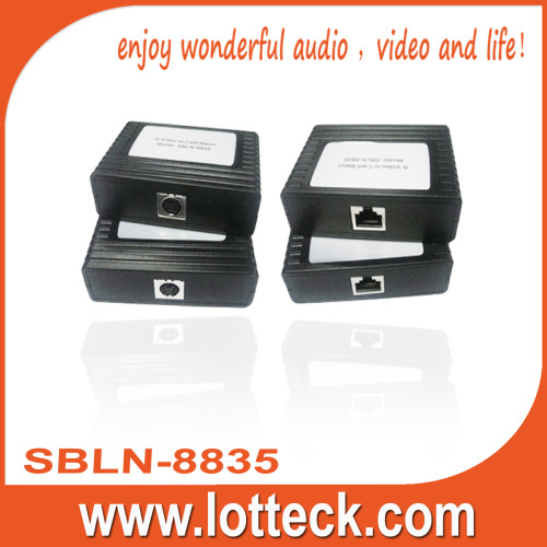 150m/480P S-Video extender over lan cable Cat5/5e/6