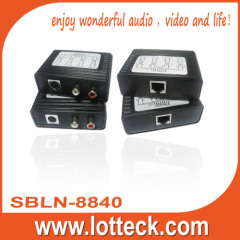 150m/480P S-Video+L/R Audio extender over lan cable Cat5/5e/