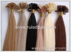 MOQ 1pcs100% brazilian remy hair prebonded V tip hair
