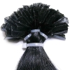 Keratin Hair Extensions of I-/U-/V-/Micro-tipped Indian Remy Hair, Various Colors are Available