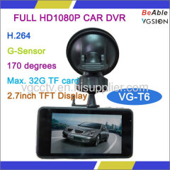 H.264 FULL HD1080P Mini Size CAR DVR with 2.7 inch LCD Display