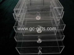 fliptop acrylic makeup boxes with diamond-shaped handles