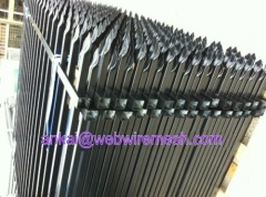 Black Powder Coated Steel Fencing