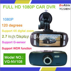 H.264 Support G-sensor With WDR function FULL HD1080P Car DVR
