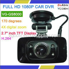 FULL HD 1080P with 2.7 inch Display with G-sensor and GPS Car DVR