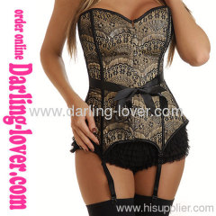 New! Sexy Brown Classic Corset