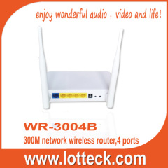 4 LAN Ports 300Mbps wireless networking router